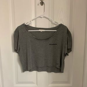 gray crop top from pacsun